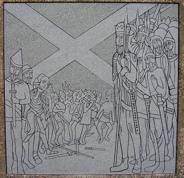 Scottish Saltire memorial
